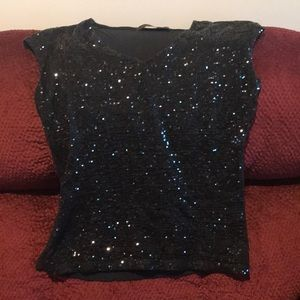 The Limited sequin black blouse